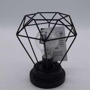 Tischlampe, LED, Diamantform, schwarz