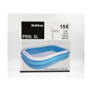 XL Pool Planschbecken für Kinder, 778 Liter, ca. 2,62 x 1,75 x 0,51 m, blau/weiß