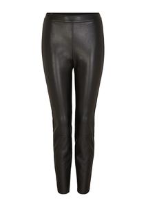 Damen Leggings mit Fake-Leather-Coating