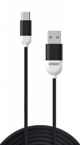 Schwaiger USB-C-Sync- und Ladekabel schwarz