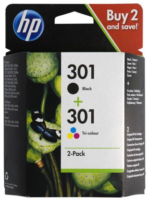 HEMA 2er-Pack Druckerpatronen HP 301, Schwarz/farbig