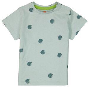 HEMA Baby-T-Shirt, Punkte Blau