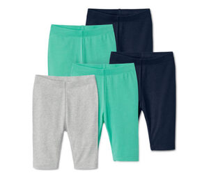 5 Leggings, blau, grün, grau