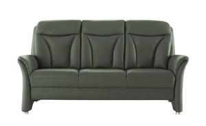meinSofa Ledersofa  Carlo - grün - 194 cm - 101 cm - 89 cm - Polstermöbel
