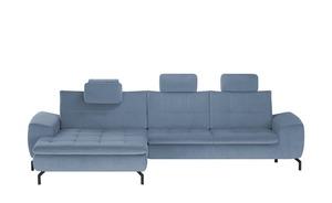meinSofa Ecksofa  Brenda - blau - 87 cm - Polstermöbel