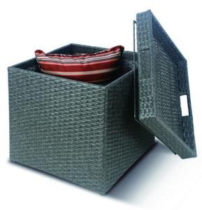 schütte Home & Living Geflecht-Polsterbox 44,5 x 44,5 x 46 cm grau
