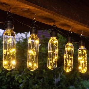 I-Glow XXL-Solar-Lichterkette - Warmweiß