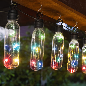I-Glow XXL-Solar-Lichterkette - Bunt