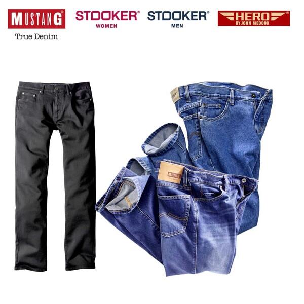 Herren-Jeans Mustang, Hero by John Medoox oder Damen-, Herren Stooker-Jeans und -Hosen versch. Modelle, Waschungen und Größen, ab