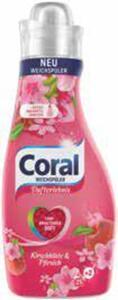 Coral Weichspüler oder Waschmittel