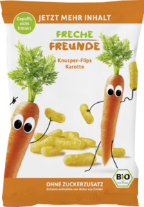 erdbär Bio Freche Freunde Knusper-Flips Karotte