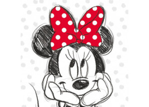 Keilrahmenbild Disney ca. 35x35cm Minnie Mouse