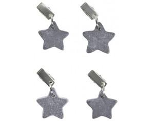 Tischtuchbeschwerer Sterne grau 4er Pack