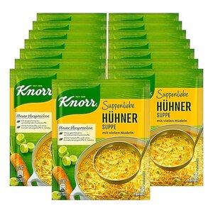 Knorr Suppenliebe Hühnersuppe mit Nudeln ergibt 0,75 Liter, 15er Pack