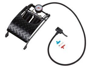 CRIVIT® Doppelzylinder-Fußluftpumpe, 5 bar (73 psi)