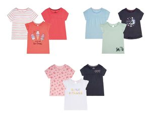 LUPILU® Kleinkinder T-Shirts Mädchen, 3 Stück