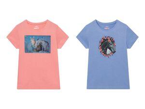 PEPPERTS® Kinder T-Shirt Mädchen, aus reiner Baumwolle