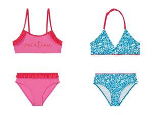 PEPPERTS® Bikini Mädchen, mit niedlichen Rüschen