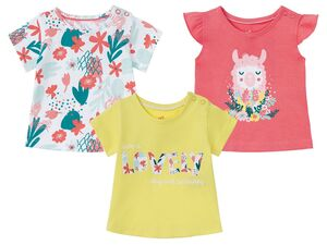 LUPILU® Baby T-Shirt Mädchen, mit Schulterknöpfung
