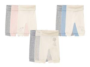 LUPILU® Baby Jogginghosen, 3 Stück, aus Bio-Baumwolle