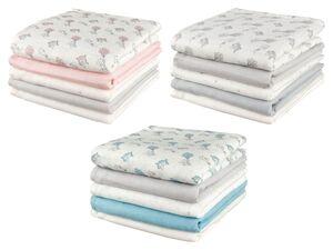 LUPILU® Baby Mulltücher, 5 Stück, aus reiner Baumwolle