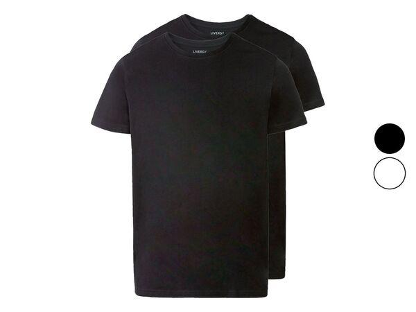 LIVERGY® T-Shirts Herren, 2 Stück, körpernah geschnitten