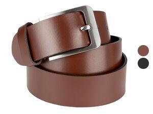 LIVERGY® Leder-Gürtel Herren, mit Dornschließe