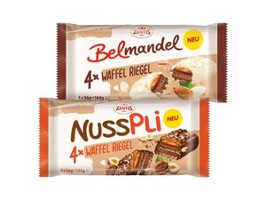 Zentis Nusspli/Belmandel Waffelriegel