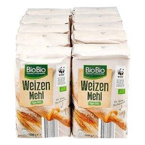 BioBio Weizenmehl Typ 550 1 kg, 10er Pack