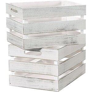 Kesper Aufbewahrungs- oder Dekokiste, 2er-Set weiß - je ca. 35 x 25 x 20 cm