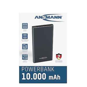 Alu Powerbank 3in1, versch. Farben - anthrazit/schwarz