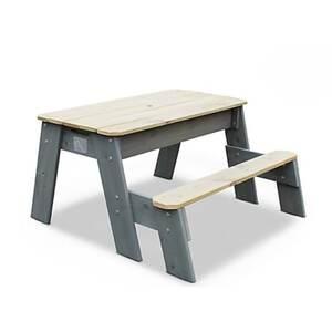 EXIT Aksent Sand-, Wasser- und Picknicktisch, 1 Sitzfläche inkl. Sonnenschirm und Gartenwerkzeug