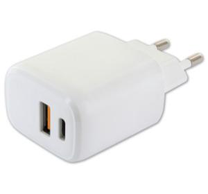 SCHWAIGER 230-V-Ladeadapter für USB und USB-C