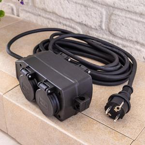 Powertec Electric 4-fach-Powerblock mit Kabel ca. 5 m