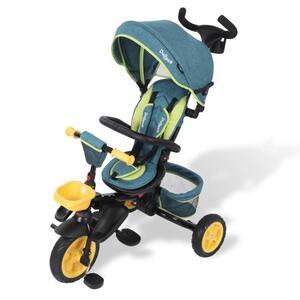 Dreirad Laufrad Kinder Baby Fahrrad mit Schubstange und Freilauf-Funktion - für Kinder von 0,5 - 5 Jahre geeignet von Daliya® Farbe Türkis
