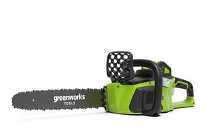Greenworks 40V Akku-Kettensäge bürsteloser Motor mit 4Ah Batterie und Ladegerät GD40CS40K2X