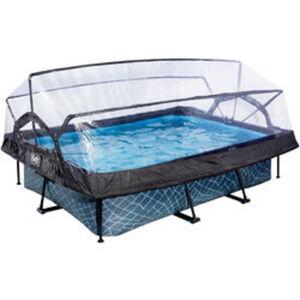 EXIT Frame Pool grau mit Dach
