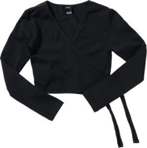 BLOCH Uniform Ballett Wickeljacke schwarz Gr. 116/128 Mädchen Kinder