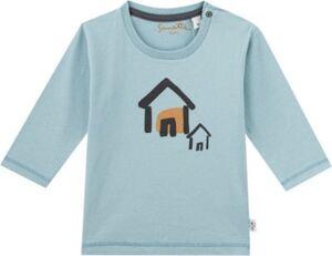 Baby Langarmshirt , Organic Cotton hellblau Gr. 92 Jungen Kleinkinder
