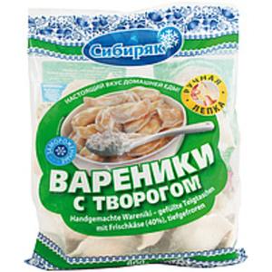 Handgemachte Wareniki – gefüllte Teigtaschen mit Frischkäse ...