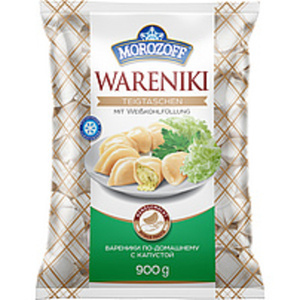 """Teigtaschen """"Wareniki"""" handgemacht mit Weißkohlfüllung, tief..."""