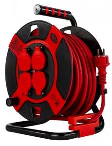 REV Kabeltrommel 25m rot/schwarz, IP44