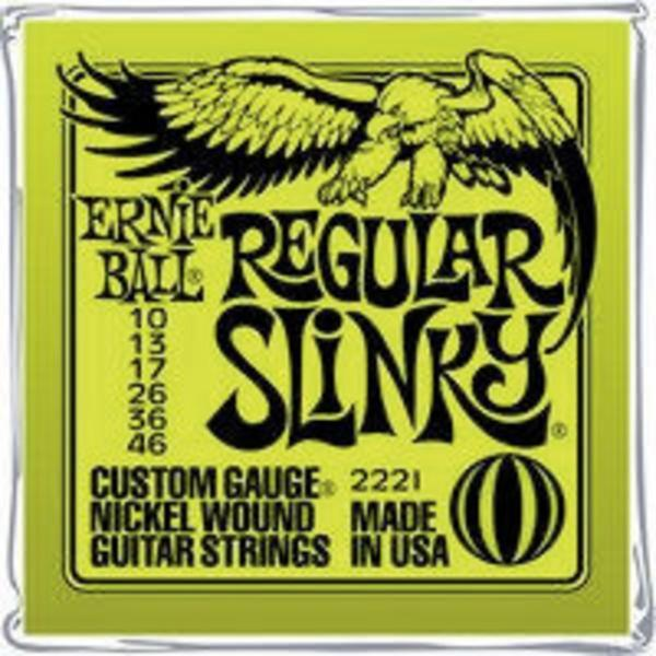 Ernie Ball E-Gitarrensaiten EB2221 Regular Slinky 010-046