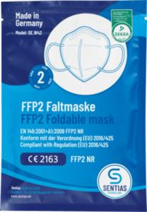 Sentias FFP2 Atemschutzmaske für Erwachsene, Einweg
