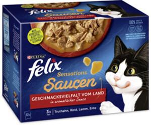 Felix Sensations Saucen Geschmacksvielfalt vom Land Katzenfutter nass 12x 85 g