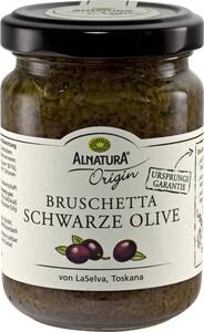 Alnatura Bio Bruschetta Schwarze Olive 130G