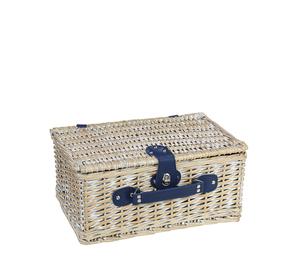 Cilio Picknick-Korb vintage weiß AROLO