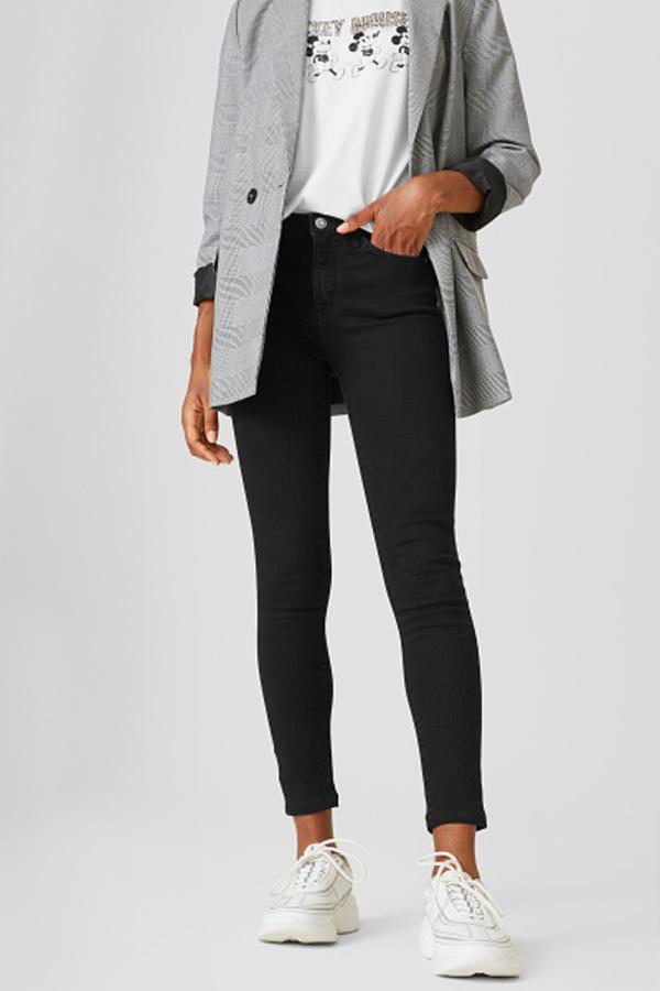 C&A CLOCKHOUSE-Skinny Jeans, Grau, Größe: 34