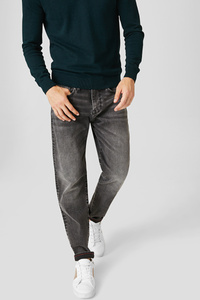 C&A Tapered Jeans, Grau, Größe: W28 L32