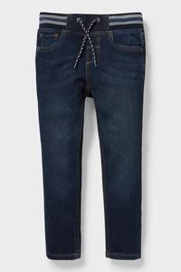 C&A Slim Jeans-Bio Baumwolle, Blau, Größe: 92